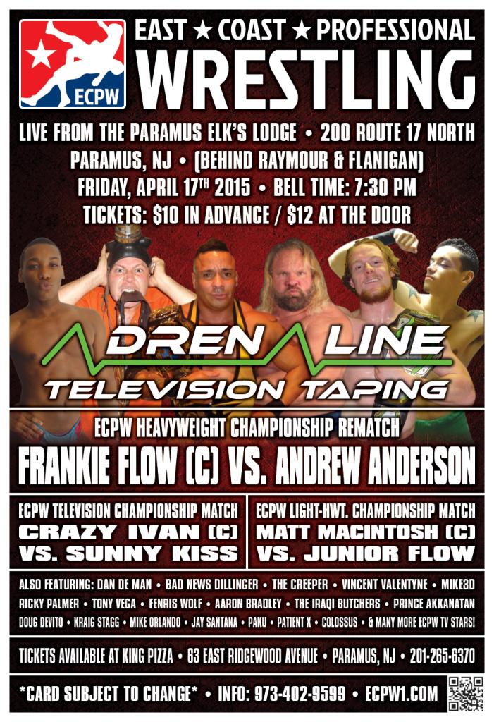 ECPW Adrenaline Paramus NJ April 2015