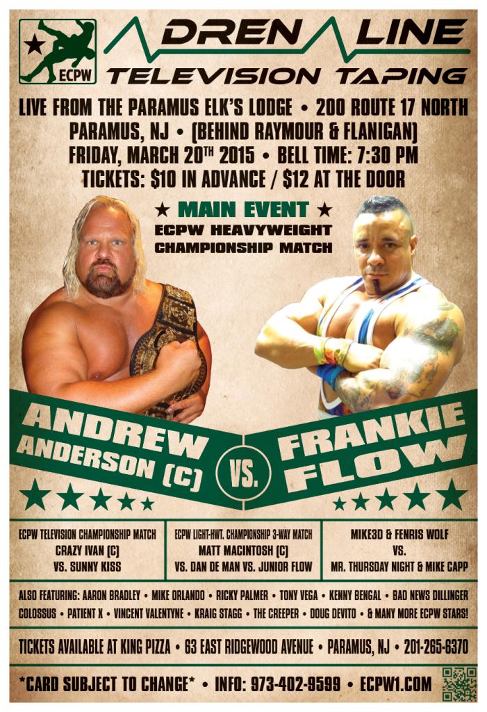 ECPW Adrenaline Paramus NJ March 2015