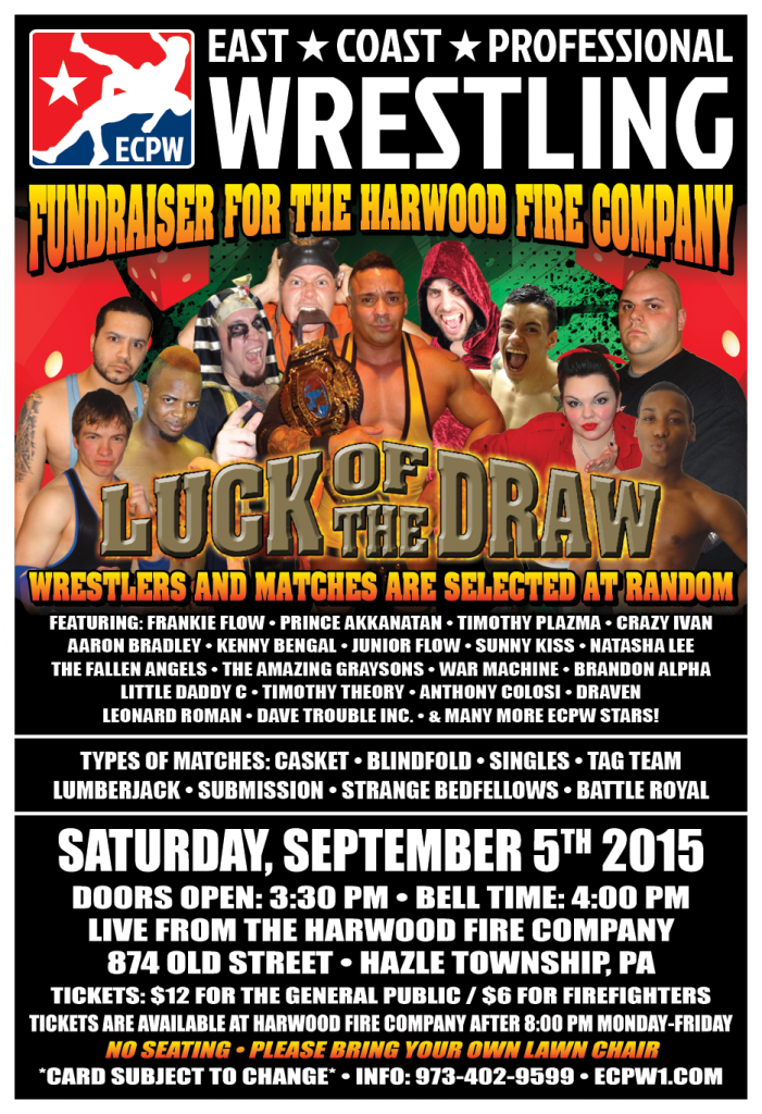 ECPW Luck of The Draw Harwood PA September 5th 2015 V2